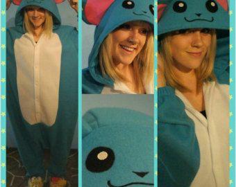 Marill Inspired Kigurumi/Adult Onesie-Pokemon Cosplay, Pokemon Gift, Pokemon Lovers, Pokemon Kigurumi, Pokemon PJs, Handmade READY TO SHIP