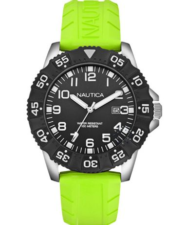NAUTICA NSR 103 Light Green Rubber Strap Η τιμή μας: 110€ http://www.oroloi.gr/product_info.php?products_id=38335
