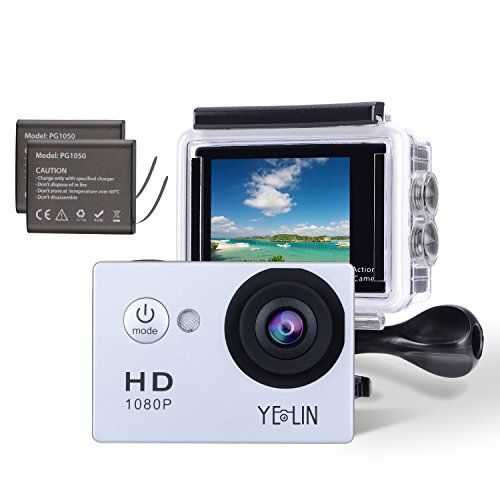 nice YELIN 1080P Full HD 2.0 inch LCD Screen Waterproof Sports Action Camera Cam DV 5MP DVR Helmet Camera Sports DV Camcorder+Extra 1 Batteries
