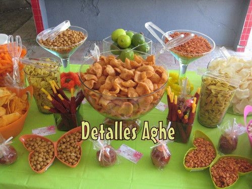 Mesas minis and chocolate on pinterest for Decoracion de frutas para fiestas infantiles