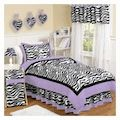 Purple Zebra Print Bedding Twin Comforter Set for Girls 4pc Bed in a Bag