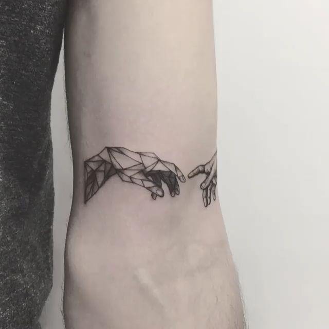 Chronic Ink Tattoo Markham Zeke Blackwork The Creation of Adam