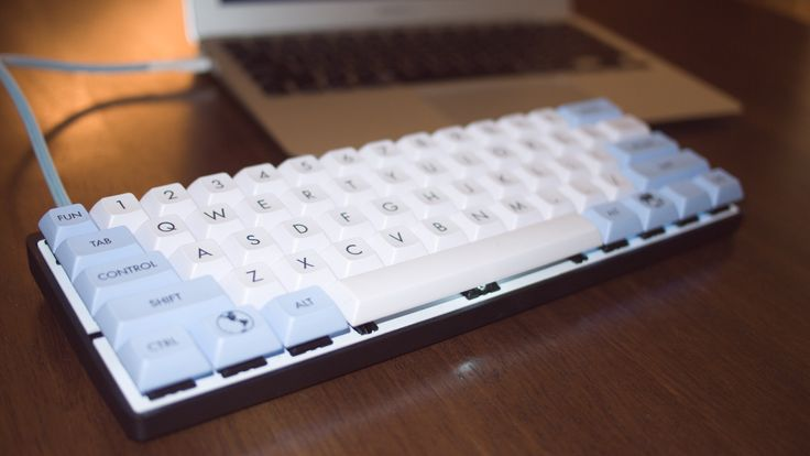 White And Blue In 2020 Computer Setup Computer Keyboard