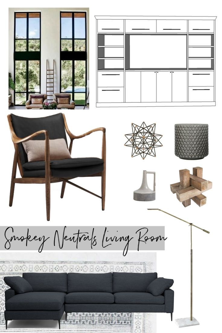 ORC Week 1- Smokey Neutrals Living Room. Pulling this family-friendly living room together with a neutral palette and punches of black.
