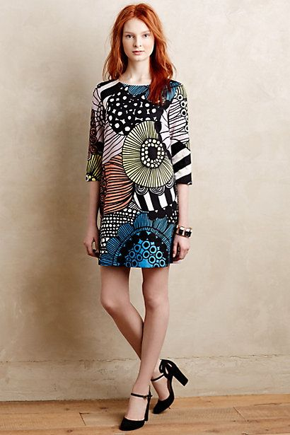 "I thought of beautiful doodles, then I saw ""by Marimekko""... of course!!!  Petula Shift #anthropologie"