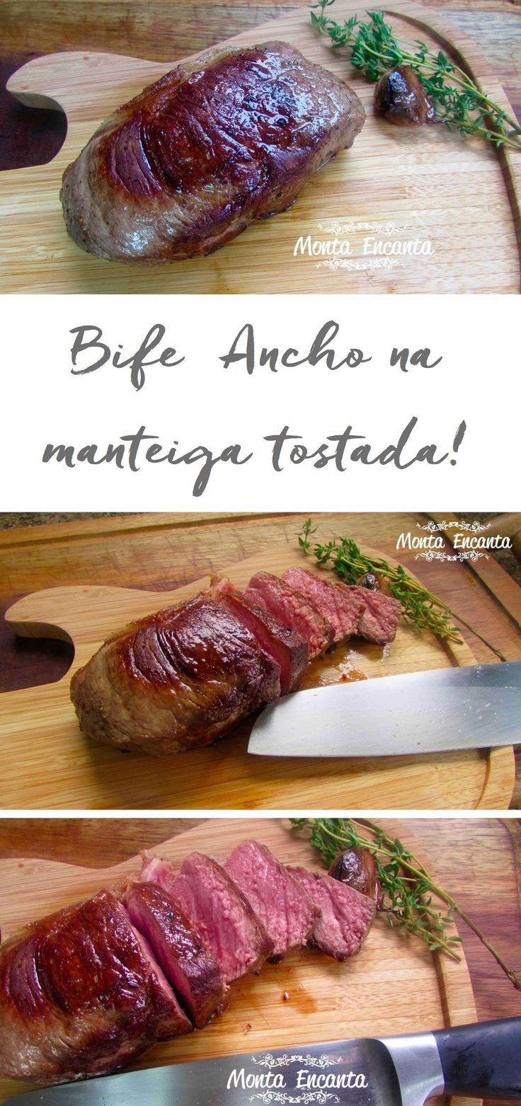 Como preparar um delicioso Bife Ancho, corte portenho, argentino, especialmente macio, tostado na manteiga com alecrim e alho.