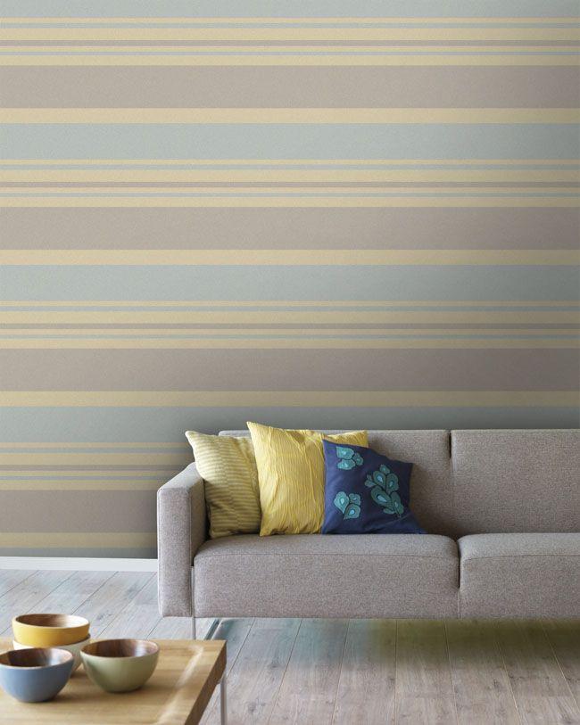 Empapelado - Rayas anchas horizontales - Papel de parede