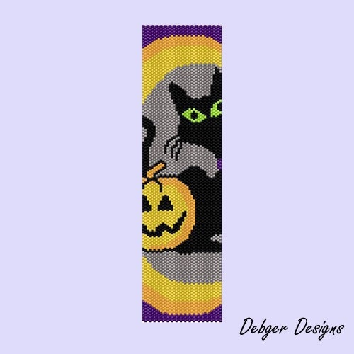 HALLOWEEN 4 - Peyote Cuff Pattern (PATTERN SAVING buy 2 - 3rd free). $6.50, via Etsy.