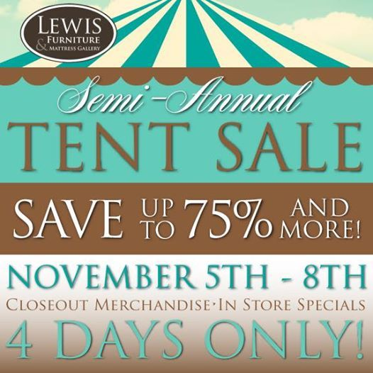 Our Semi Annual Tent Sale Starts TOMORROW NOV. Weu0027ll Have Closeout  Merchandise And In Store Specials Too! 4 Days Only  Nov Open Mon Fri And  Saturday