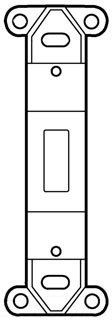 P & S 80700-W White Wall Plate Single Gang Blank Switch Plate Insert