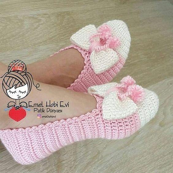 Como fazer chinelos modernos de crochê ou tecido