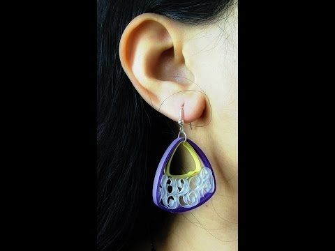 How To Make Quilling Earring Tutorial for Beginners /Design 30 - YouTube