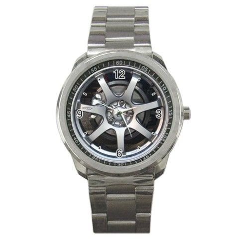 2008 Honda Civic Mugen Rims Wheel Sport Metal Watch | Dalmanaz - Jewelry on ArtFire