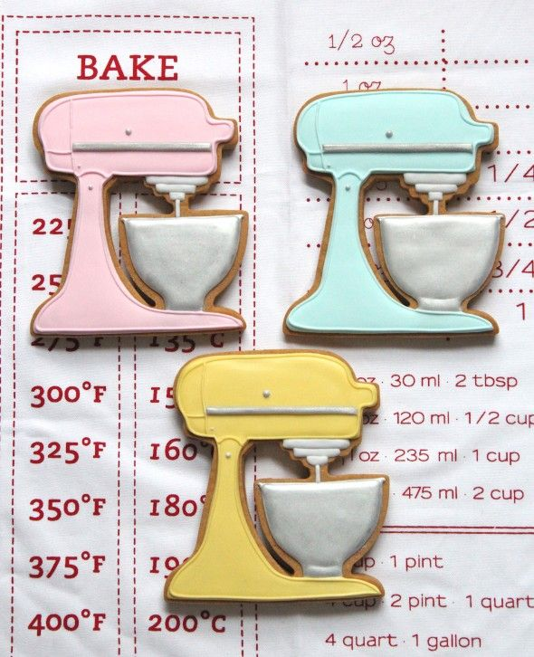 kitchenaid cookies...how cute would this be for a housewarming party or kitchen themed bridal shower!