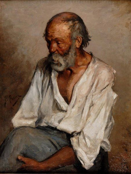 Pablo Picasso (1881-1973): The Old Fisherman, 1895.   Pinterest