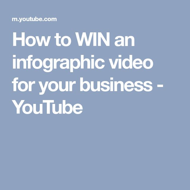 How to WIN an infographic video for your business - YouTube