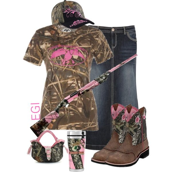 """Pink Camo Outfit"" by isongirls on Polyvore"