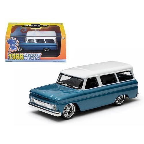 1966 Chevrolet Suburban Blue 1/43 Diecast Model Car by Greenlight