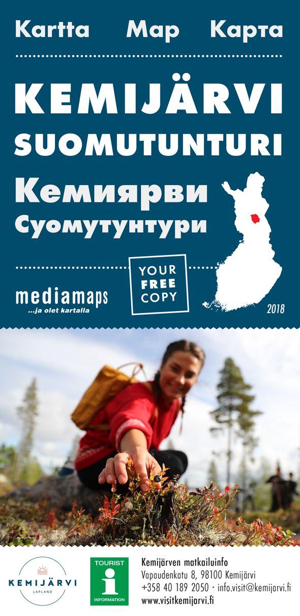 Uusi Mediamapsin Kemijarvi Kartta On Ilmestynyt Kartta Free Mappi