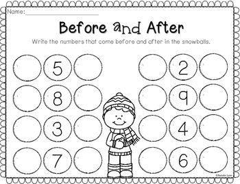 Winter No Prep Math and Literacy Worksheets for