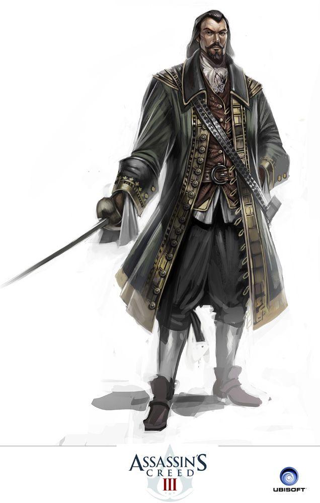 Bernardo de Gálvez y Madrid, Vicomte de Galveston et Comte de Gálvez (1746 – 1786) était gouverneur espagnol de la Louisiane et de Cuba et secrètement allié des Assassins. De Gálvez aida l'Armée continentale pendant la guerre d'Indépendance américaine et porta un rude coup à l'armée britannique. Cela faisait de lui une cible majeur de l'Ordre des Templiers.