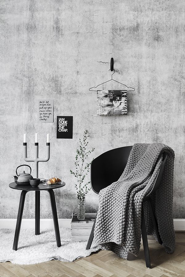 Styling these amazing concrete walls.