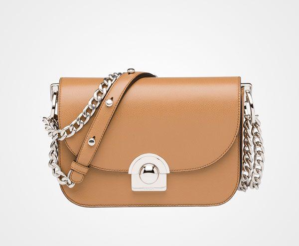 Prada Woman - Prada arcade bag - Caramel - 1BD030_PEO_F098L_V_COO ... - prada galleria bag white + black + caramel