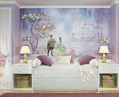 princess themed wall murals