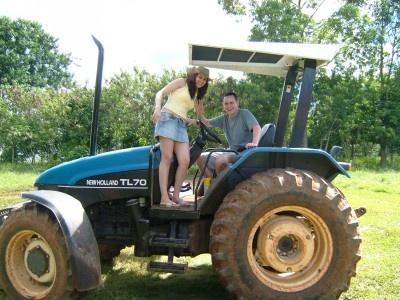 Tractor driving in Brasil