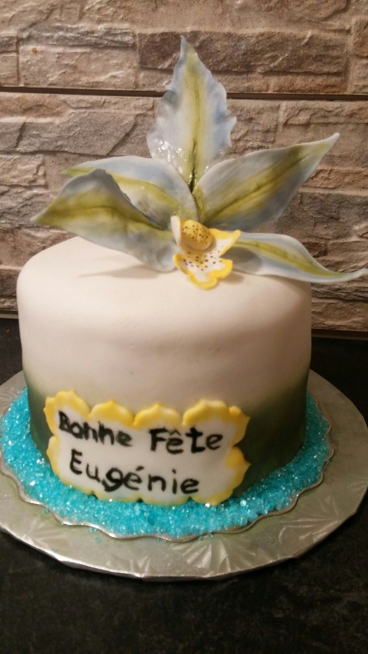Gâteau orchidée