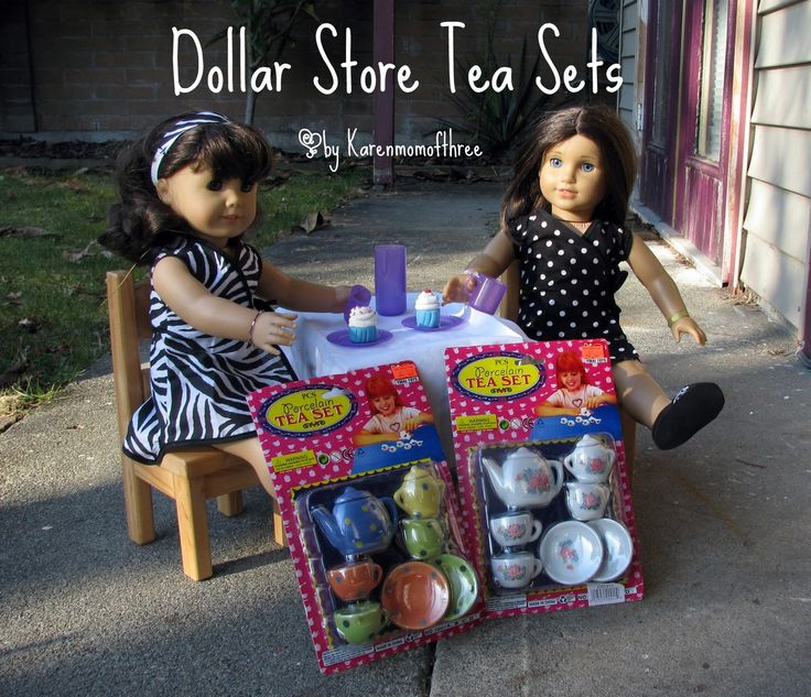 Karen Mom of Three's Craft Blog: Dollar store Tea Sets, More Dollar store gems!