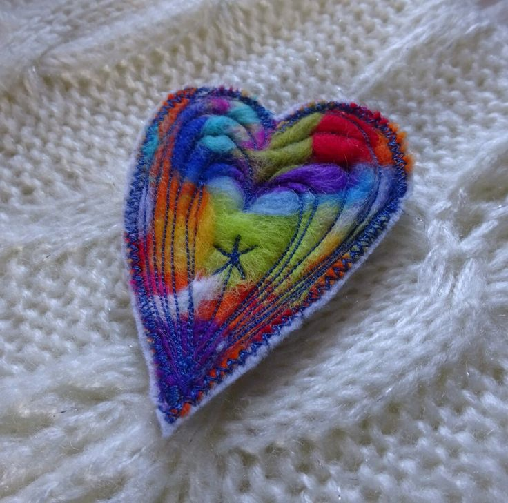 A personal favourite from my Etsy shop https://www.etsy.com/uk/listing/494175966/heart-brooch-rainbow-brooch-lgbt-brooch