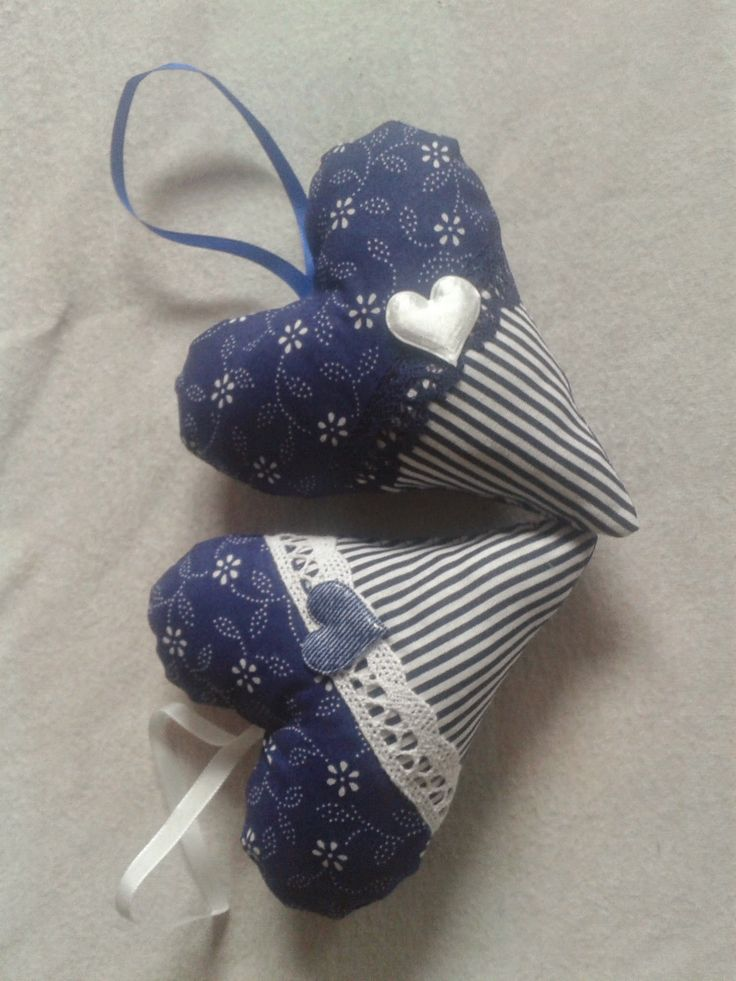 modrá srdíčka