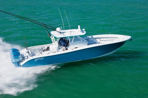Yellowfin's construction philosophy results in the Yellowfin 42 —a perfectly crafted vessel designed to return years of adventure. #sportfishing #fishing #boats #boatlust