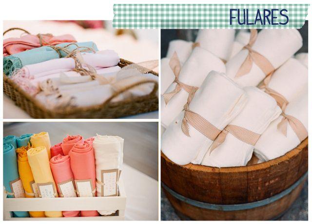 regalos invitados boda fulares:
