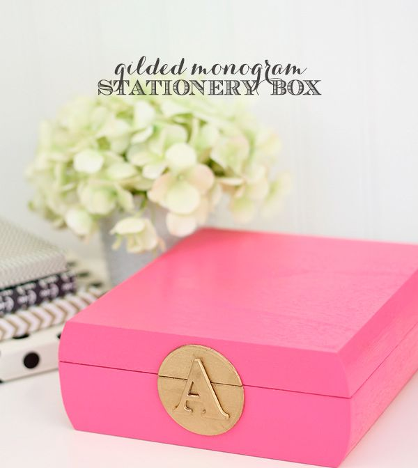 Design Inspired: Monogram Stationery Box