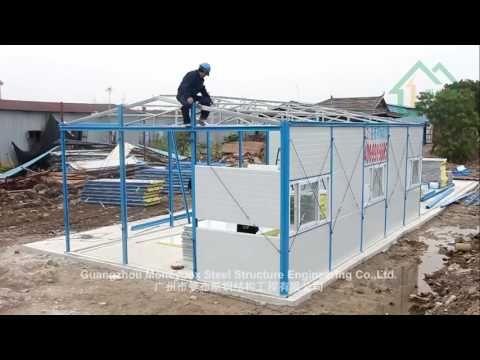 Prefabricated K House Install - YouTube