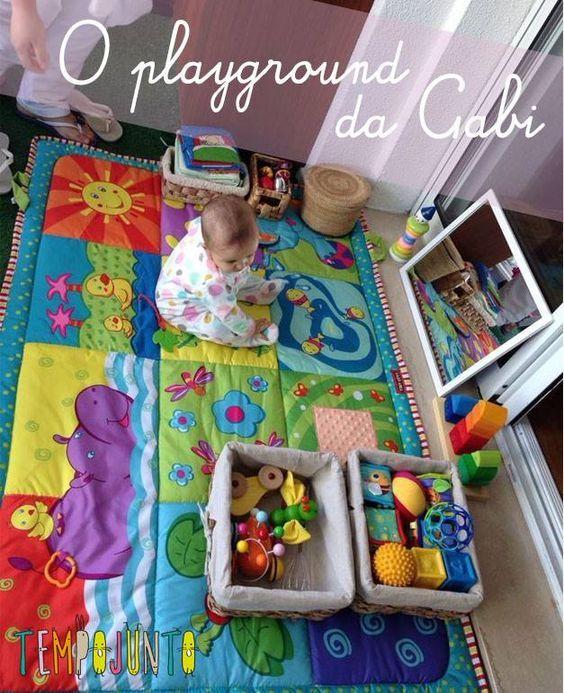 Como montar uma área de brincar para um bebê de 6 a 12 meses