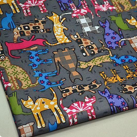 Нейлон брезента ручной работы DIY пеленания водонепроницаемой ткани занавески для душа кошки мило темно-серый *