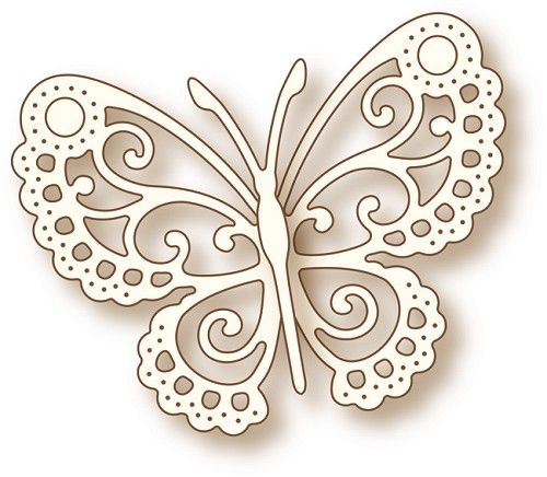 Wild Rose Studio Craft Dies Butterfly Lace Knutselbord