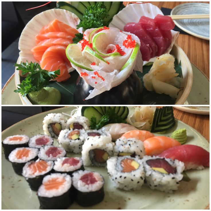 Sushi e sashimi. Oggi va così