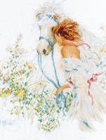 Набор для вышивания крестом LANARTE PN-0007952 (Девушка и лошадь)