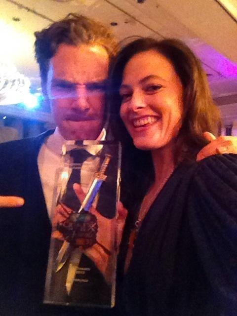 Benedicy & Lara at the Specsavers Crime Thriller Awards 18 Oct 2012