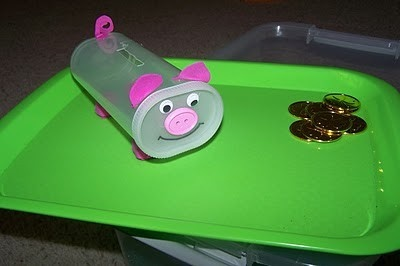 Homemade piggy bank