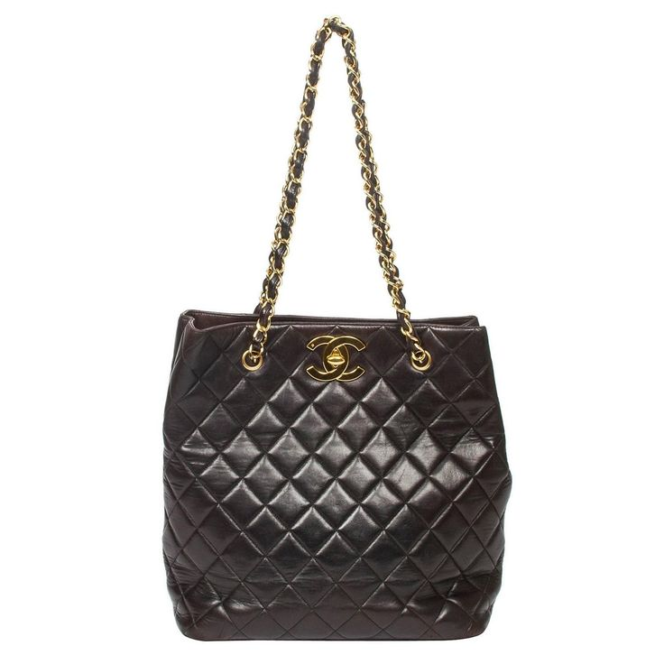 Chanel Tote Black Quilted Leather 1990