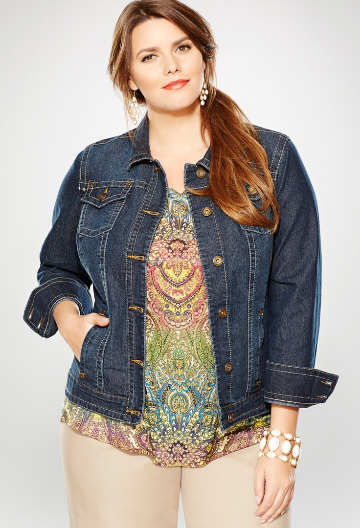 Plus Size Classic Denim Jacket   Plus Size Denim Jackets & Skirts   Avenue