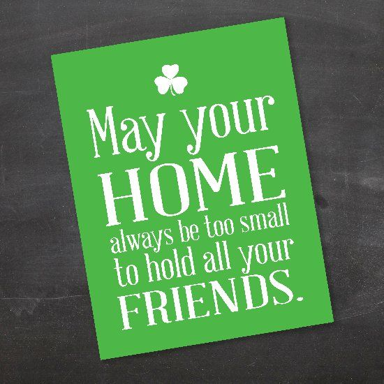 An Irish Blessing Free Printable to help you decorate for St. Patrick's Day!