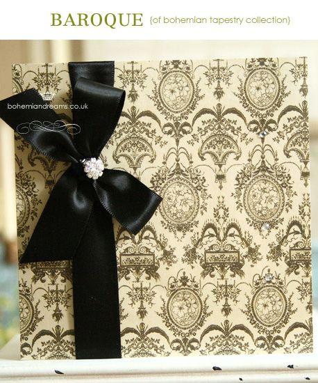 Bohemian tapestry wedding invitation www.bohemiandreams.co.uk