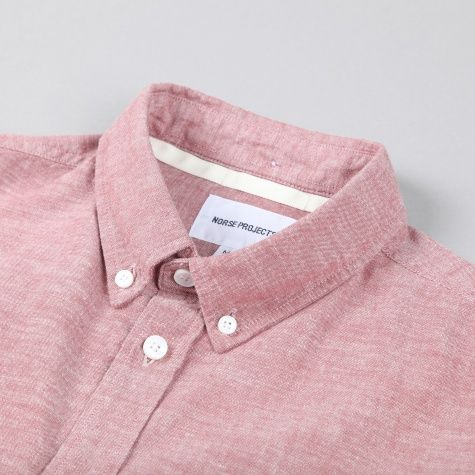 Norse Projects Anton Chambray Shirt - Burnt Hawtorn