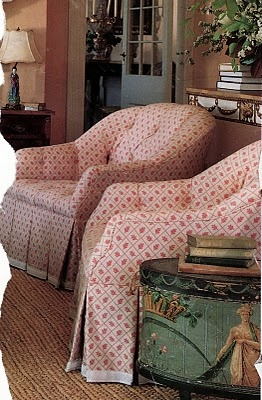 Bon Upholstered Chairs In Pink/red Small Print Fabric